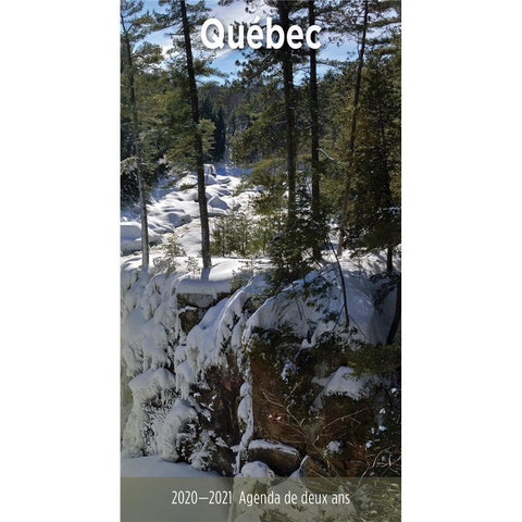 Quebec 2020 French 2yr Pocket Planner Calendar Front Cover