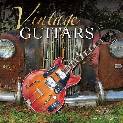 Guitars Vintage 2020 Wall Calendar Front Cover