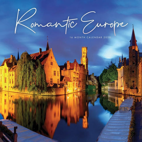 Romantic Europe 2020 Wall CalendarFront Cover