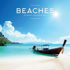 Beaches 2021 Wall Calendar Front Cover Image