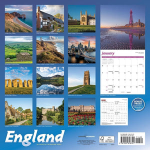 England 2022 Wall Calendar (Pre-Order) Product Image