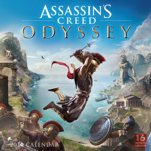 Assassins Creed 2020 Wall Calendar Front Cover