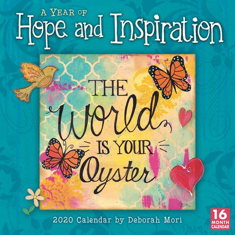 Year of Hope and Inspiration 2020 Wall Calendar Front Cover