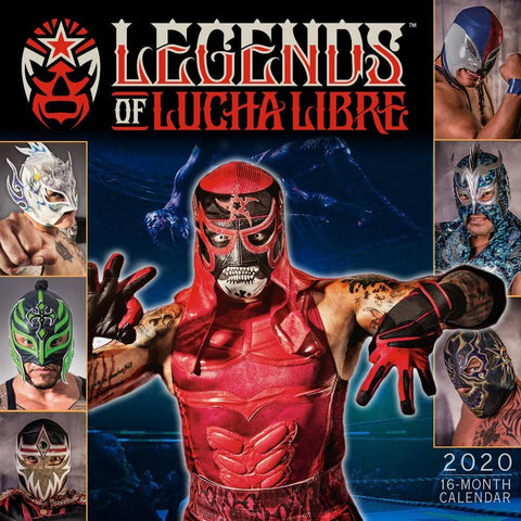 Legends of Lucha Libre 2020 Wall Calendar Front Cover