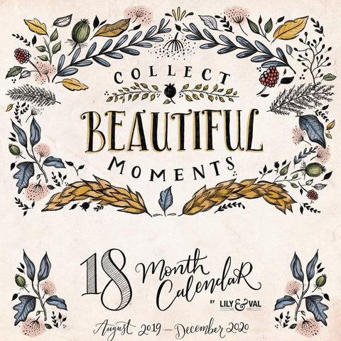 Collect Beautiful Moments Planner 2020 Wall Calendar Front Cover