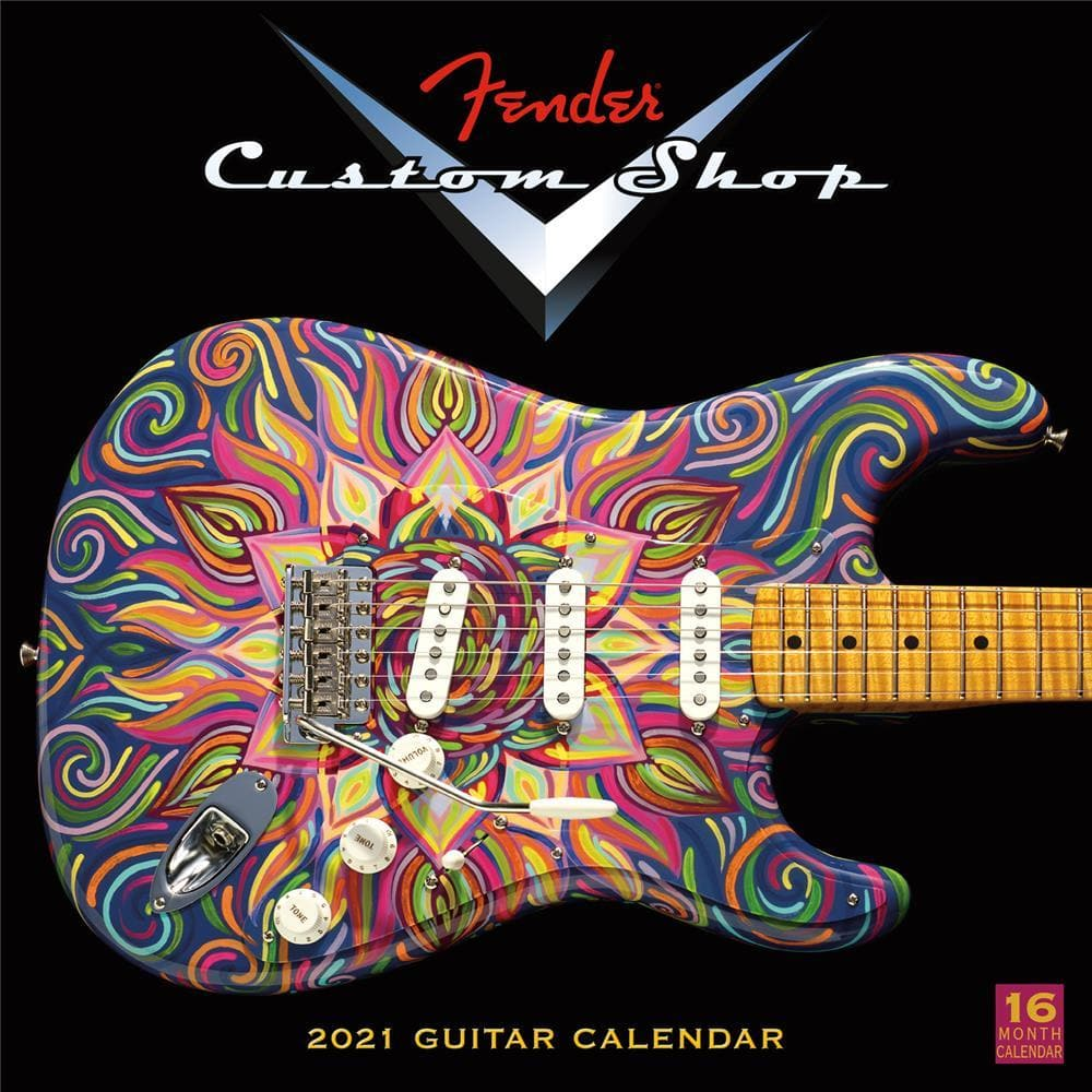 Fender Custom Shop Guitars 2021 Wall Calendar by Sellers