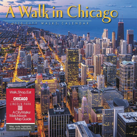 Chicago A Walk in 2020 Wall Calendar Front Cover