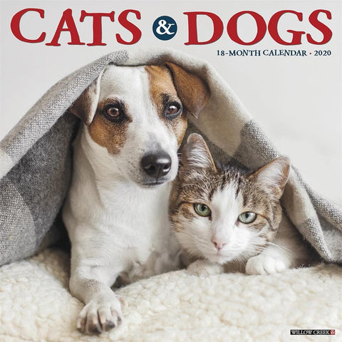 Cats and Dogs 2020 Wall Calendar Front Cover