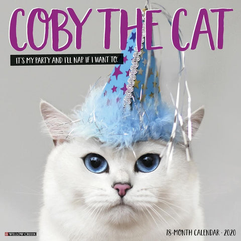 Coby the Cat 2020 Wall Calendar Front Cover