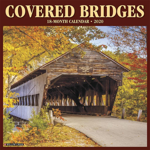 Covered Bridges 2020 Wall Calendar Front Cover
