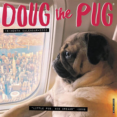 Doug the Pug 2020 Wall Calendar Front Cover