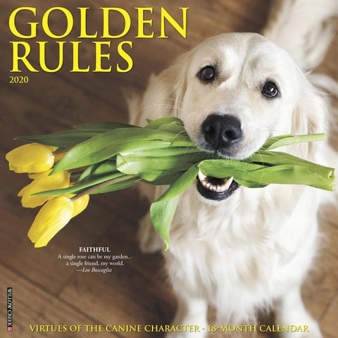 Golden Rules 2020 Wall Calendar Front Cover