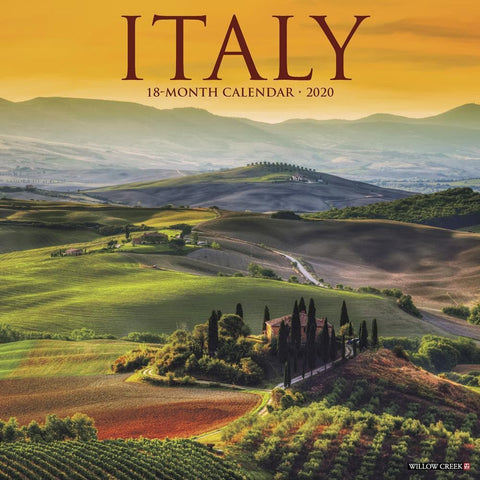 Italy 2020 Wall Calendar Front Cover