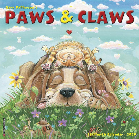 Gary Pattersons Paws n Claws 2020 Wall Calendar Front Cover