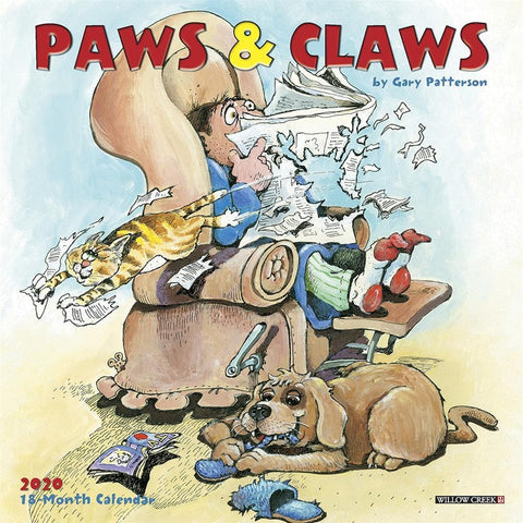 Paws and Claws 2020 Mini Calendar Front Cover
