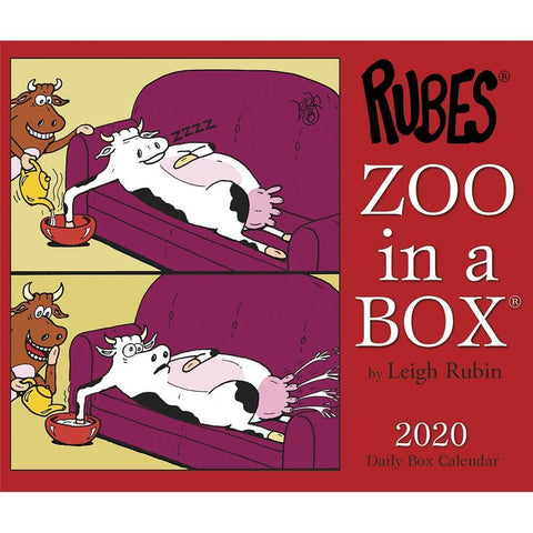 Zoo In A Box 2020 Box Calendar Front Cover
