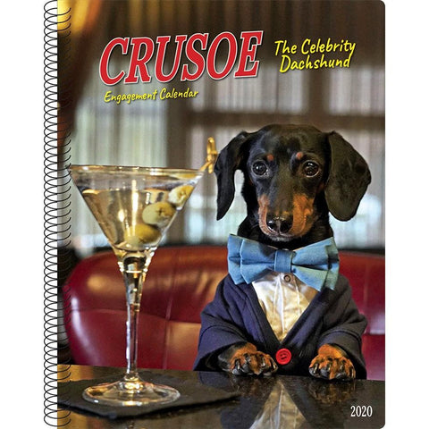 Crusoe the Celebrity Dachshund 2020 Engagement Calendar Front Cover