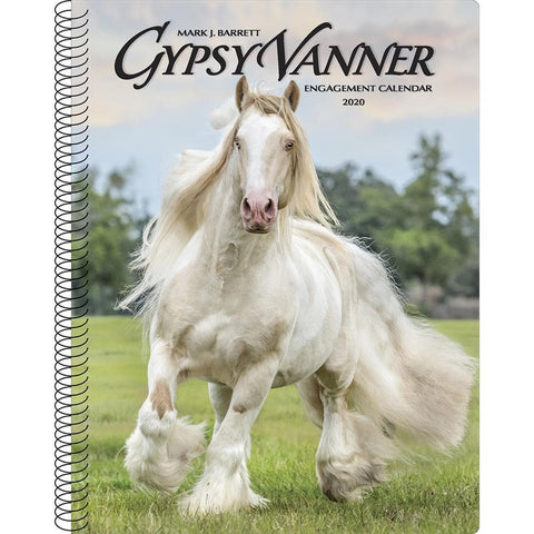 Gypsy Vanner Horse 2020 Engagement Calendar Front Cover