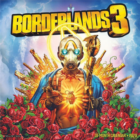 Borderlands 3 2020 Wall Calendar Front Cover