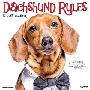 Dachshund Rules 2022 Wall Calendar Product Image