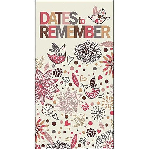 Dates To Remember Red and Brown