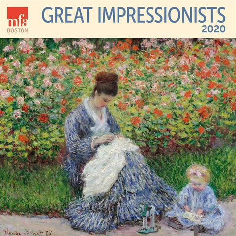 Impresssionist Great MFA 2020 Wall Calendar Front Cover