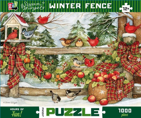 Susan Winget Winter Fence Scenic Puzzle 1000 Piece