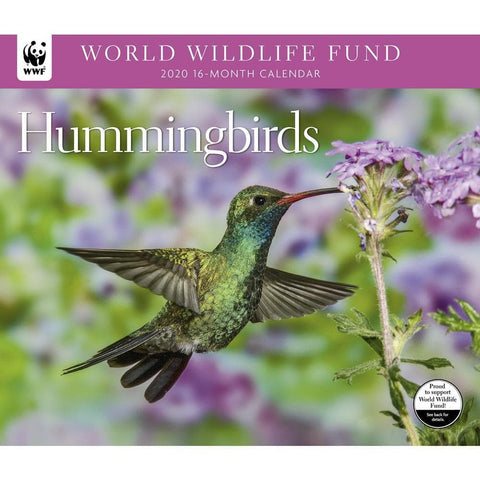 Hummingbirds WWF 2020 Wall Calendar Front Cover