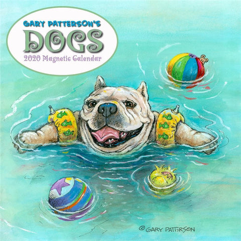 Patterson Dogs 2020 Mini Magnetic Pad Calendar Front Cover