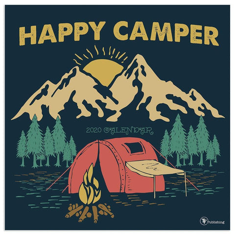 Happy Camper 2020 Wall Calendar Front Cover
