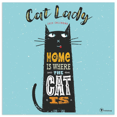 Cat Lady 2020 Wall Calendar Front Cover