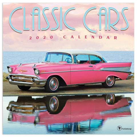 Classic Cars 2020 Wall Calendar Front Cover
