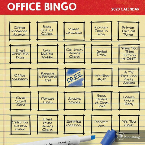 Office Bingo 2020 Mini Calendar - Online Exclusive Front Cover
