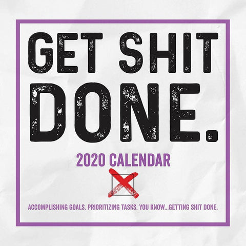 Get Shit Done 2020 Box Calendar - Online Exclusive Front Cover