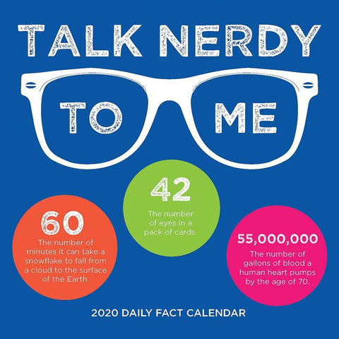 Talk Nerdy to Me 2020 Box Calendar - Online Exclusive Front Cover