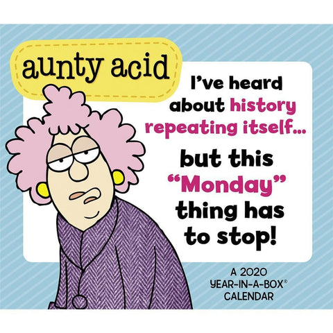 Aunty Acid 2020 Box Calendar Front Cover