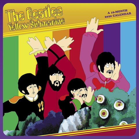 Beatles Yellow Submarine 2020 Wall Calendar Front Cover