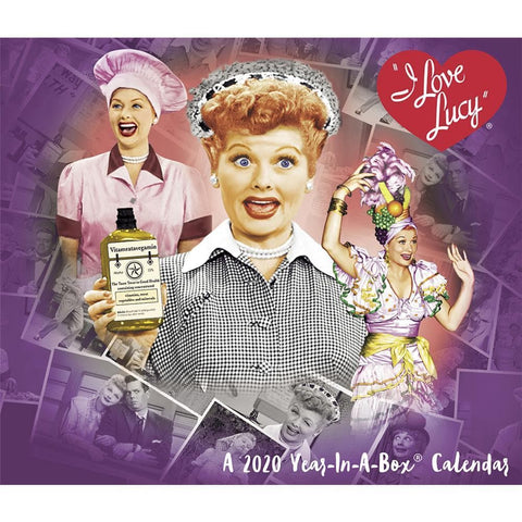 I Love Lucy 2020 Box Calendar Front Cover