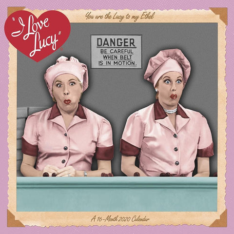 I Love Lucy 2020 Wall Calendar Front Cover
