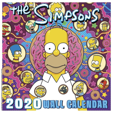 Simpsons 2020 Wall Calendar Front Cover