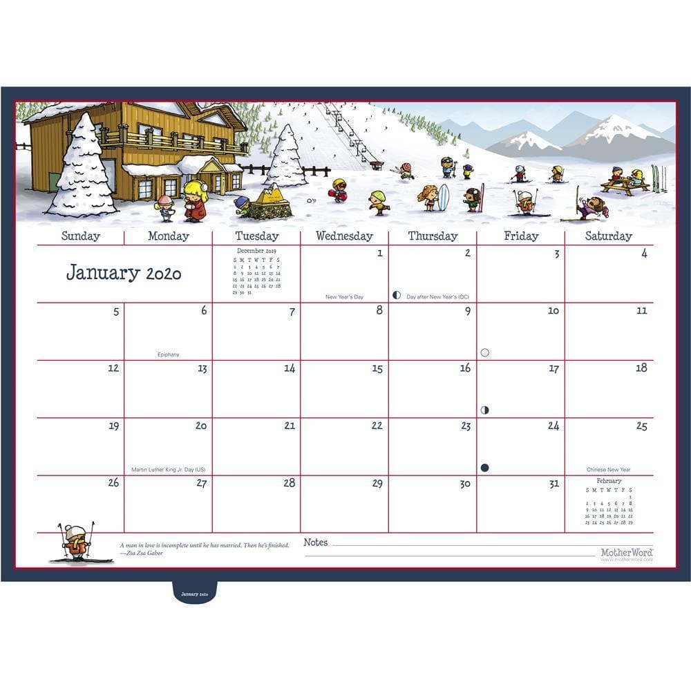 MotherWord Moms 2020 Ultimate Deluxe Wall Calendar