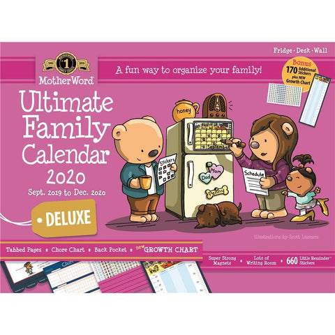 MotherWord Moms 2020 Ultimate Deluxe Wall CalendarFront Cover