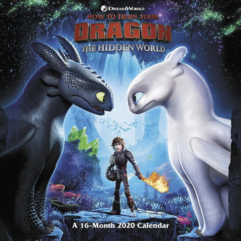 How to Train Your Dragon 3 2020 Wall Calendar Front Cover