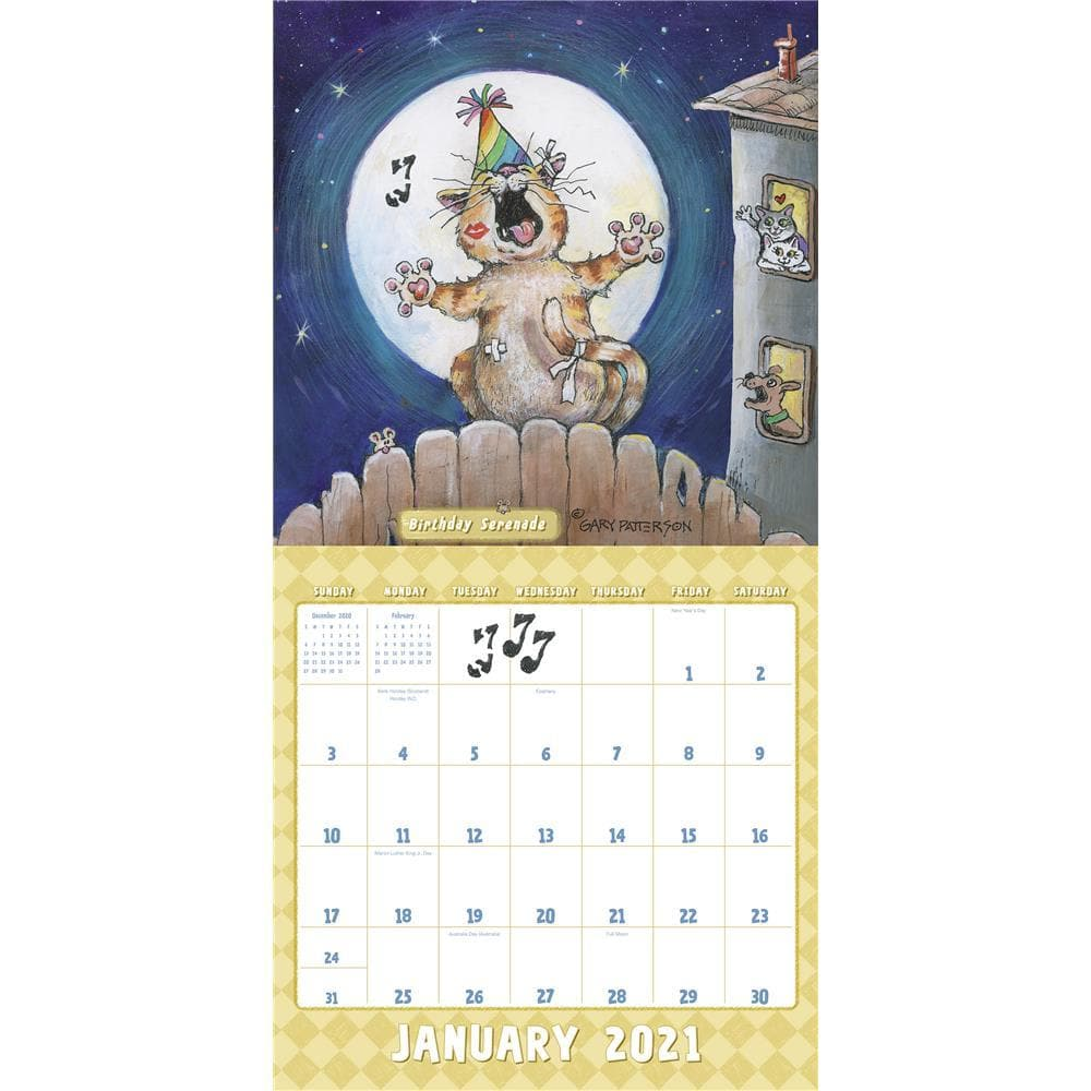 Patterson Cats 2021 Wall Calendar by ACCO Brands ...