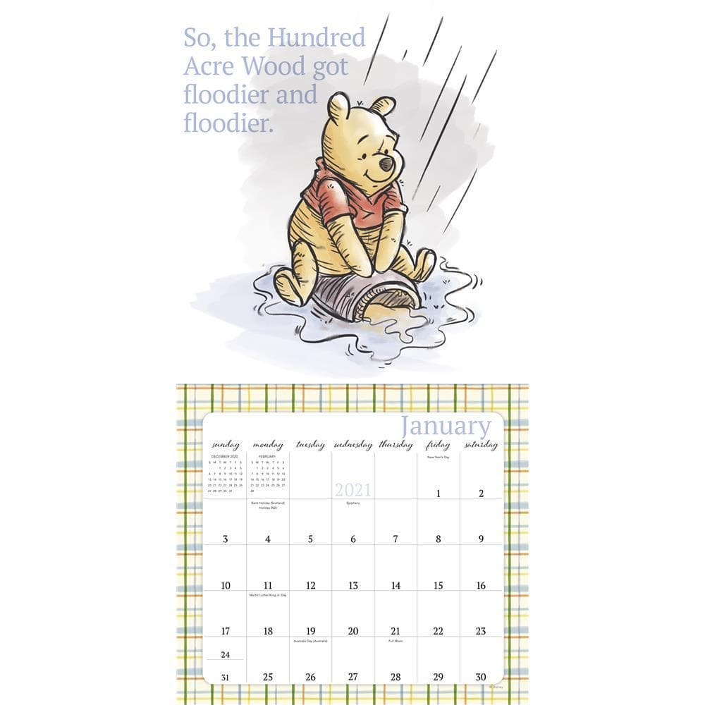 Winnie the Pooh 2021 Special Edition Wall Calendar by ACCO ...