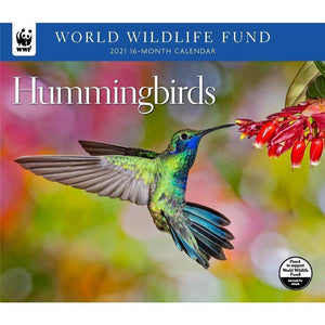 Hummingbirds WWF 2021 Wall Calendar Front Cover