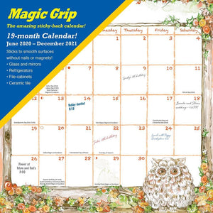 Joyful Seasons 2021 Magic Grip Wall Calendar