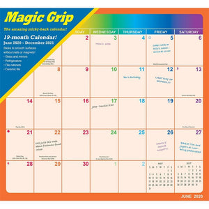 Rainbow Jumbo 2021 Magic Grip Wall Calendar
