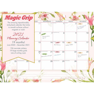 Watercolor Super Jumbo 2021 Magic Grip Wall Calendar