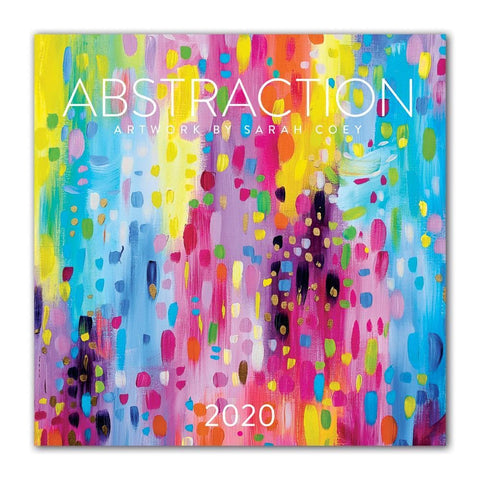 Abstraction Big Grid 2020 Wall Calendar Front Cover